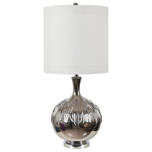 Crestview Collection Brenna White Table Lamp CRST-CVAP2495