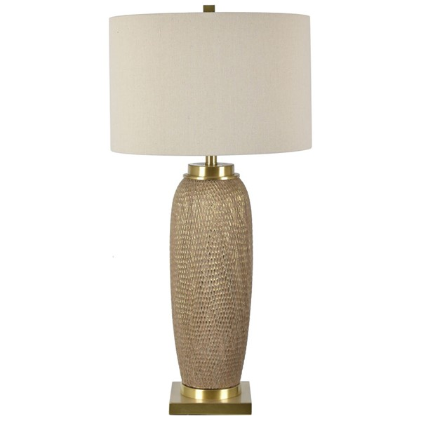 Crestview Collection Sisley Champagne Oatmeal Table Lamp CRST-CVAP2515