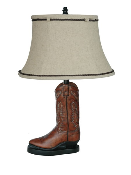 Crestview Collection Stetson Brown Beige Table Lamp CRST-CVAQP382