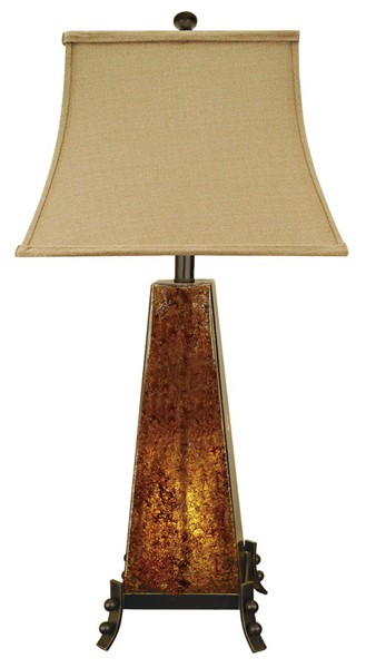 2 Crestview Collection Roxy Amber Table Lamps CRST-CVAQP636