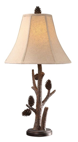 2 Crestview Collection Pioneer Resin Pinecone Table Lamps CRST-CVAQP966