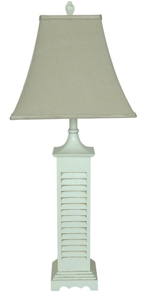 2 Crestview Collection Seaside Gray Washed White Table Lamps CRST-CVARP287