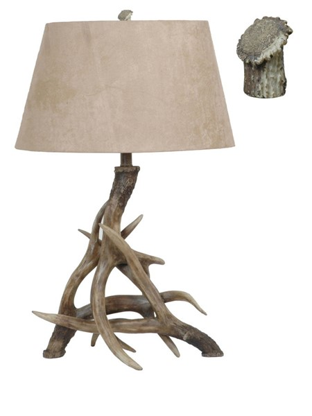 2 Crestview Collection Deer Weathered Antler Table Lamps CRST-CVATP533