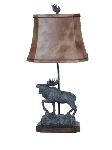2 Crestview Collection Majestic Bronze Aged Table Lamps CRST-CVATP582
