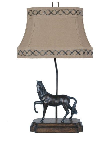 2 Crestview Collection Prancer Bronze Pecan Table Lamps CRST-CVATP585