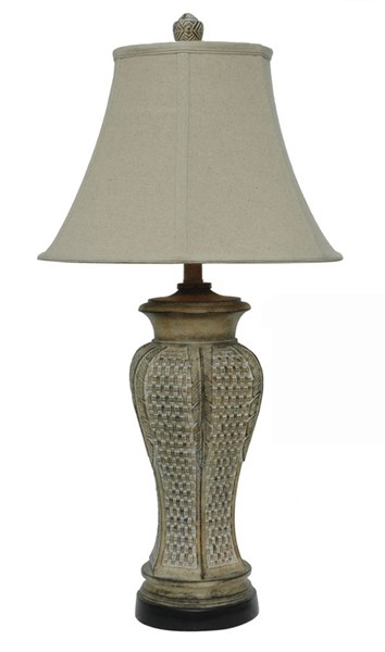 2 Crestview Collection Cypress Pickled Pine Green Table Lamps CRST-CVATP988