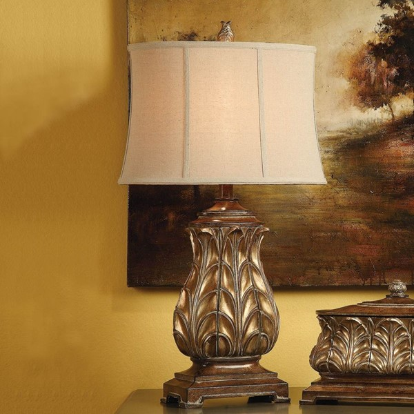 Crestview Collection Versailles Regency Gold Table Lamp CRST-CVAUP254SNG