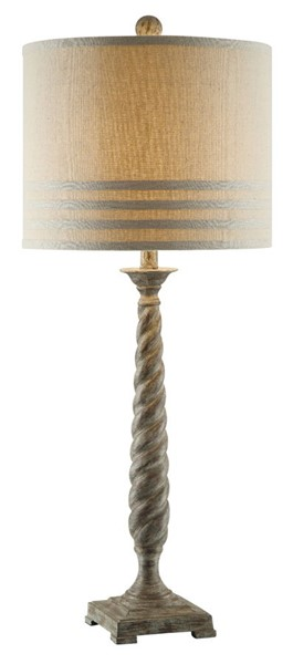 Crestview Collection Twist Antique Natural Table Lamp CRST-CVAUP964