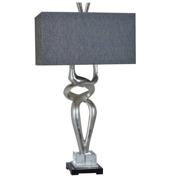 2 Crestview Collection Coventry Silver Charcoal Table Lamps CRST-CVAVP030