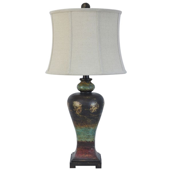 Crestview Collection Ashton Antique Pottery Natural Table Lamp CRST-CVAVP084