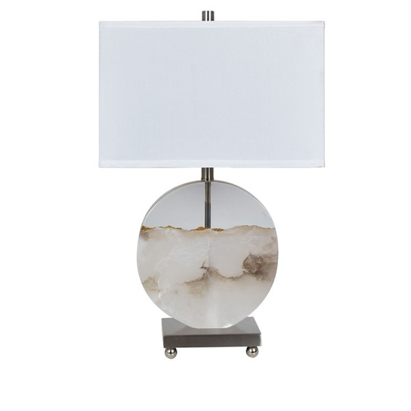 Crestview Collection Canyon Alabaster White Gold Table Lamp CRST-CVAVP1018