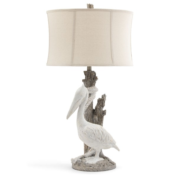 Crestview Collection Pelican White Washed Oatmeal Table Lamp CRST-CVAVP1025