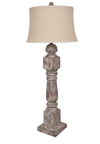 Crestview Collection Stair Post Antique Oatmeal Table Lamp CRST-CVAVP1102
