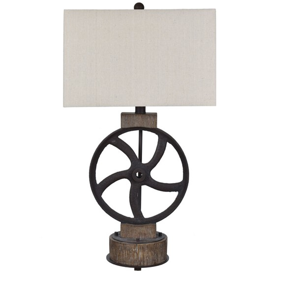 Crestview Collection Mercantile Aged Oatmeal Table Lamp CRST-CVAVP1381