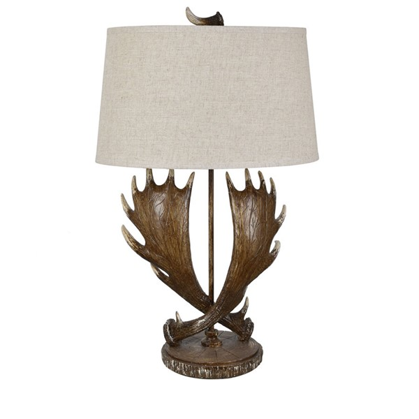 Crestview Collection Moose Run Antler Natural Table Lamp CRST-CVAVP1395