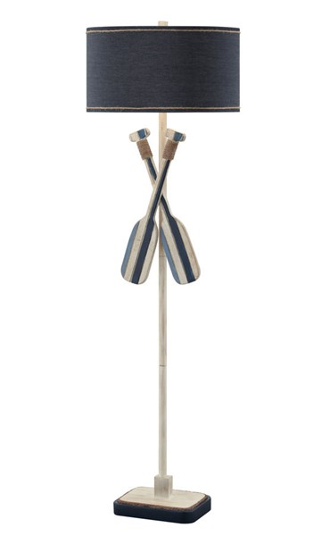 Crestview Collection Boat Nautical White Blue Oar Floor Lamp CRST-CVAVP1423