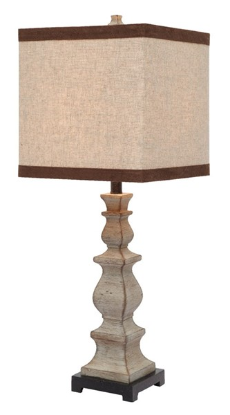 Crestview Collection Burgess Washed Brown Natural Table Lamp CRST-CVAVP358