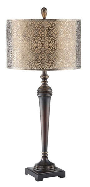 2 Crestview Collection West Mire Bronze Burlap Table Lamps CRST-CVAVP390