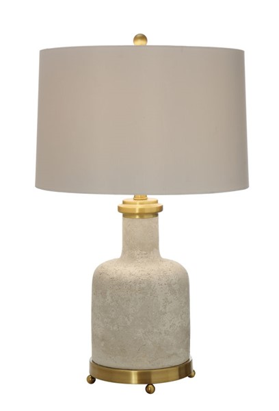 2 Crestview Collection Stone White Table Lamps CRST-CVAVP556
