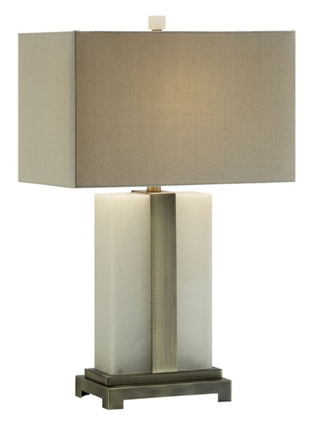 Crestview Collection Steart Oatmeal Table Lamp CRST-CVAVP655