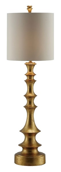 Crestview Collection Langston Gold Leaf Table Lamp CRST-CVAVP659