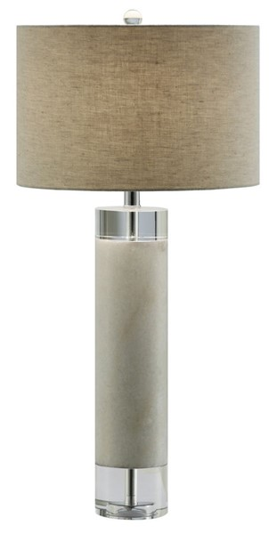 Crestview Collection Sheffield White Grey Table Lamp CRST-CVAVP718