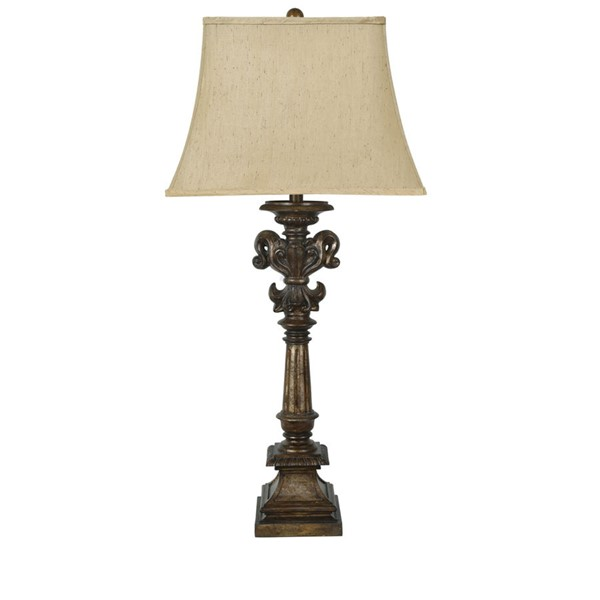 Crestview Collection Cumberland Toasted Silver Table Lamp CRST-CVAVP773
