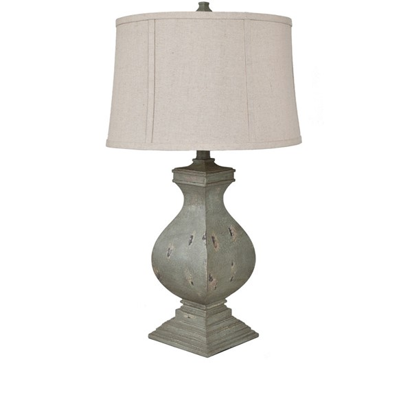 Crestview Collection Easton Tarnished Green Oatmeal Table Lamp CRST-CVAVP919
