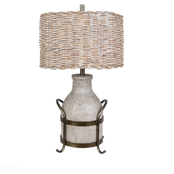 Crestview Collection Dary Natural Milk Farm Table Lamp CRST-CVAVP951