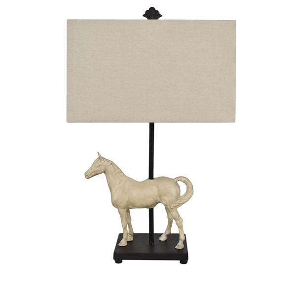 Crestview Collection Chase Bleached White Black Table Lamp CRST-CVAVP961