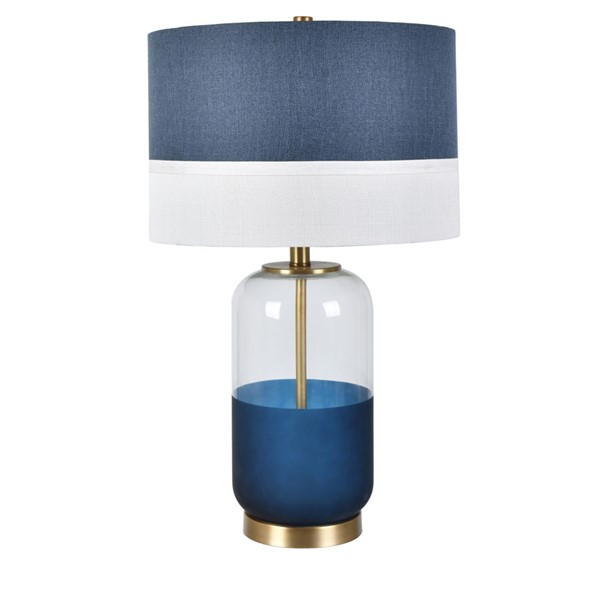 Crestview Collection Nautica Gold Navy White Table Lamp CRST-CVAZBS069
