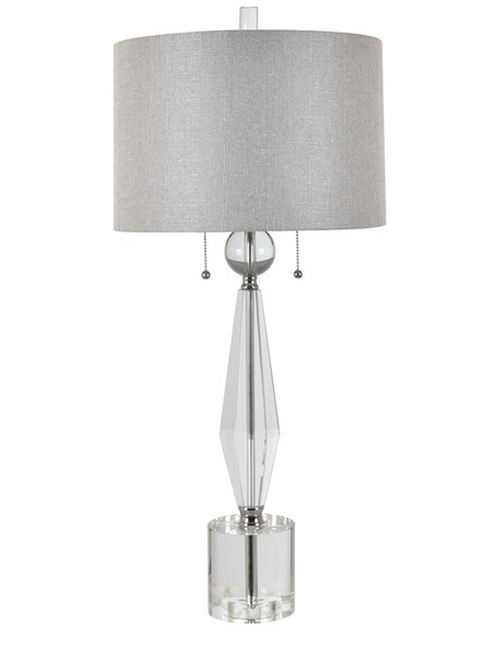 Crestview Collection Astaire Grey Crystal Table Lamp CRST-CVAZBS072