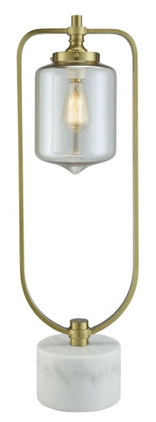 Crestview Collection Barclay White Champagne Uplight Lamp CRST-CVAZER038