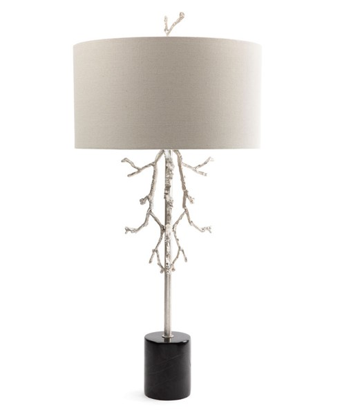 Crestview Collection Rowan Gilded Silver Black Grey Table Lamp CRST-CVAZMB006
