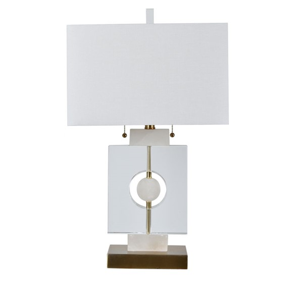 Crestview Collection Antique White Table Lamp CRST-CVAZMB031