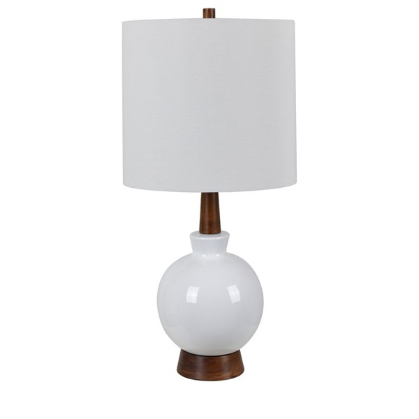 Crestview Collection Carson White Mahogany Table Lamp CRST-CVAZP018