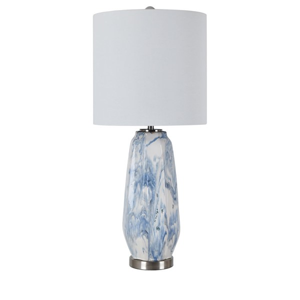 Crestview Collection Marley Blue White Table Lamp CRST-CVAZP027