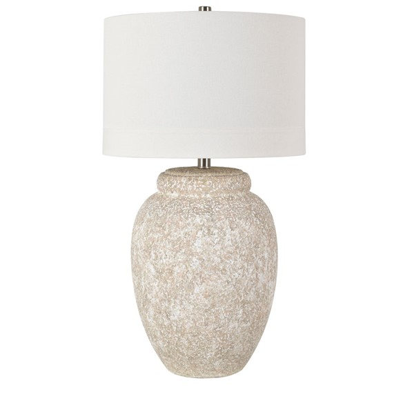 Crestview Collection Dune Sand White Ceramic Table Lamp CRST-CVAZP052