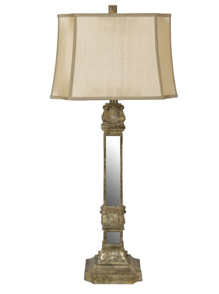 Crestview Collection Holcolmb Champagne Table Lamp CRST-CVAZVP032