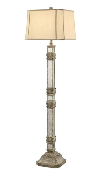 Crestview Collection Holcolmb Champagne Floor Lamp CRST-CVAZVP033