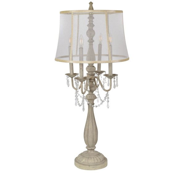 Crestview Collection Gabby White Table Lamp CRST-CVAZVP037