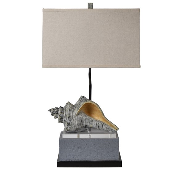 Crestview Collection Conch Bronze Oatmeal Table Lamp CRST-CVAZVP041