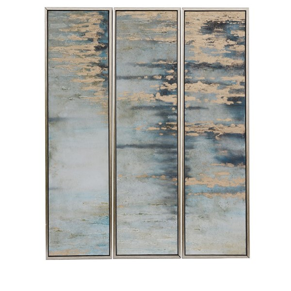 Crestview Collection Abstract Oil Painting 3pc Wall Art CRST-CVBZWF060
