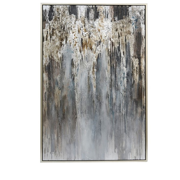Crestview Collection Silver Abstract Painting Wall Art CRST-CVBZWF061