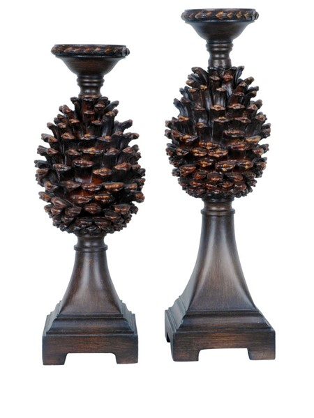 Crestview Collection Pine Bluff 2pc Candle Holder Set CRST-CVCHE345