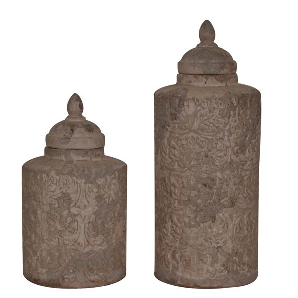 Crestview Collection Camden Sand Canisters 2pc Vase CRST-CVDEP202