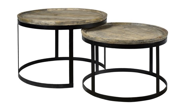 Crestview Collection Bengal Manor Mango Wood 2pc Cocktail Table CRST-CVFNR464