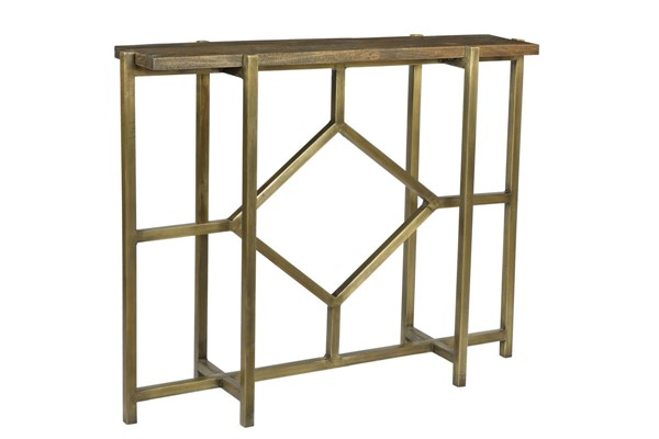 Crestview Collection Bengal Manor Antique Gold Diamond Console Table CRST-CVFNR672
