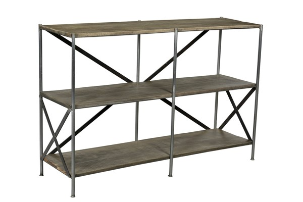 Crestview Collection Bengal Manor Grey Tiered Console Table CRST-CVFNR679