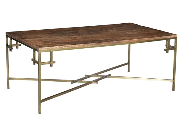 Crestview Collection Bengal Manor Aged Gold Rectangle Cocktail Table CRST-CVFNR686
